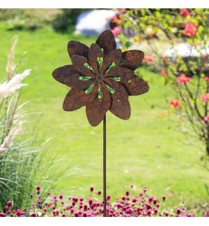 Floral Pinwheel Garden Stake