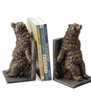 Reclining Bear Bookends
