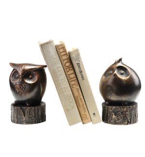 Wide-Eyed Owl Bookends
