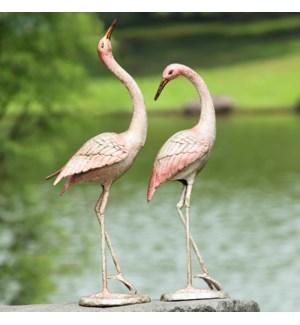 Flamboyant Crane Garden Pair Set of 2
