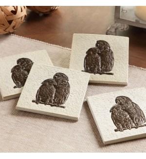 Loving Parrot Coasters Set of 4