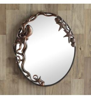 Octopus Oval Wall Mirror