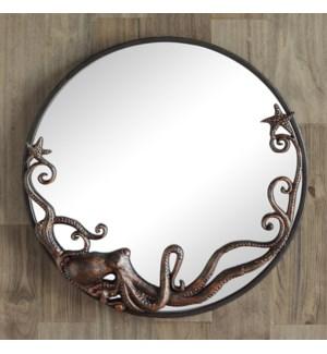 Octopus Round Wall Mirror