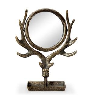 Antler Table Mirror
