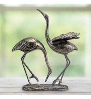 Seaside Splendor Garden Sculpture - Cranes