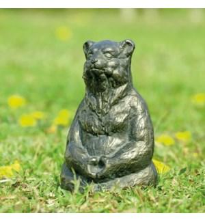 Meditating Yoga Bear Garden Sculpture