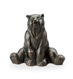 Stretching Yoga Bear Garden Sculpture