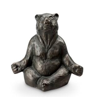 Contented Yoga Bear Garden Sculpture