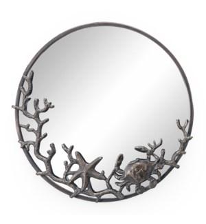 Starfish and Crab Wall Mirror