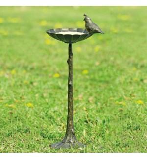 Quail Birdbath/Birdfeeder