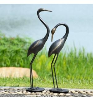 Watchful Waders Garden Cranes Set of 2
