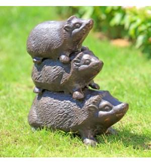 Hedgehog Trio Garden Sculpture