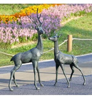 Woodland Watchers Garden Sculptures Pair