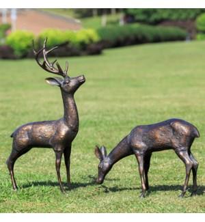 Meadow Wanderers Garden Sculptures Pair