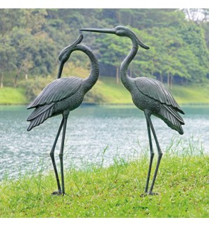 Marshland Royals Garden Sculptures Pair Set of 2