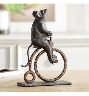Mouse on Antique Bicycle Desktop Decor