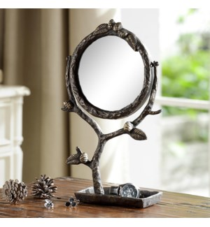 Pinecone and Branch Vanity Mirror