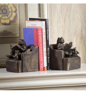 Reading Friends Bookends - Cat, Mouse