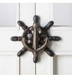 Anchor and Ship's Wheel Doorknocker