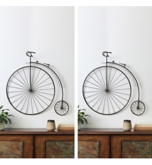 Victorian Bicycle Wall Hanging Set of 2