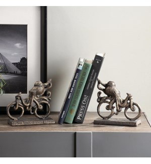 Octopus on Bicycle Bookends