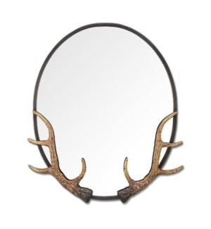 Antler Oval Mirror