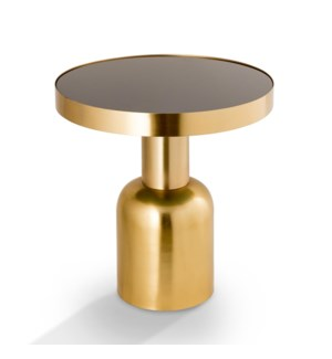 Golden Finish Pillar End Table