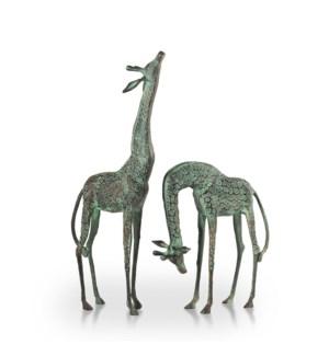 Treetopper Giraffes Garden Sculpture