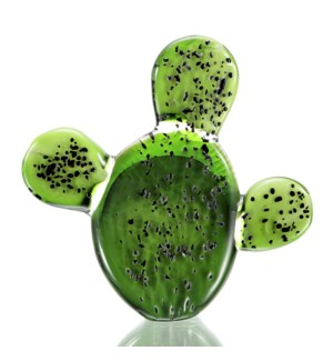 Art Glass Prickly Pear Cactus