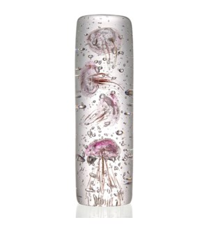 Art Glass Large Pink Jellyfish Quartet