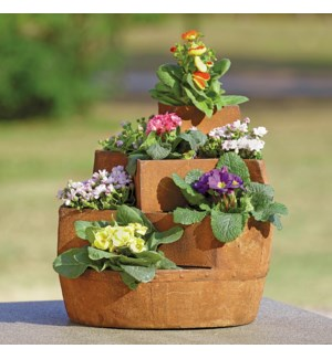 """Rustic Stairwell Planter for  3""""D Pot"""
