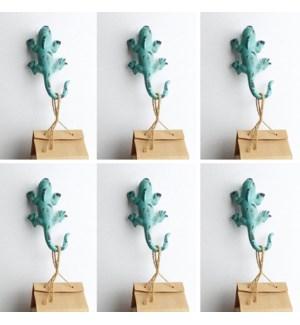 Lizard Wall Hooks Pack of 6