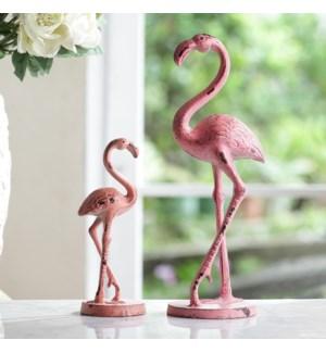Pensive Flamingos Pair