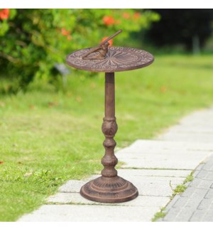 Antiqued Sundial on Stand
