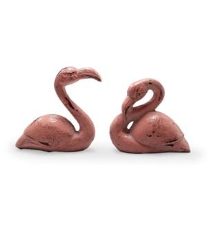 Pink Flamingo Minimals Set of 2