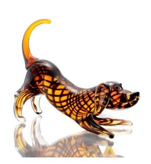 Art Glass Wiener Dog
