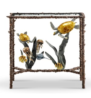 Turtle and Sealife Console Table