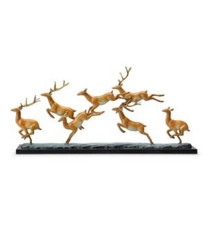 Leaping Deer Herd