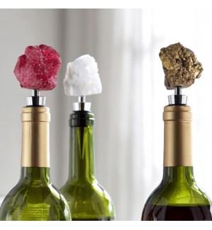 Broken Geode  Agate Wine Stopper Set of 3