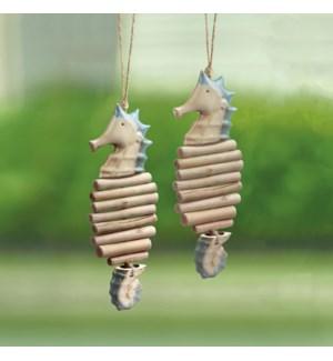 Ceramic Seahorse Mobiles Set of 2