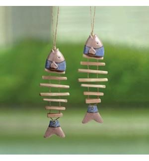 Ceramic Fish Mobiles Set of 2