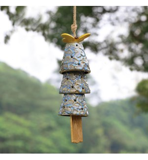 Butterfly and Bells Ceramic Windchime
