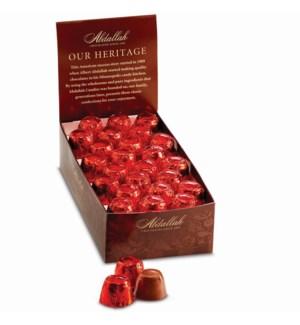 .55 oz X-mas Caramel Bite Red Foil / 48 ct