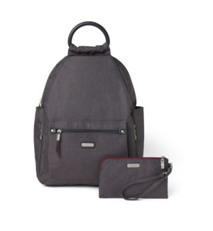 All Day Backpack with RFID Pho - CHARCOAL HERITAGE