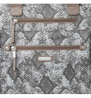 3-in-1 Convertible Backpack - TAN PYTHON