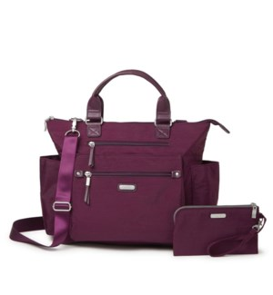 3-in-1 Convertible Backpack - EGGPLANT