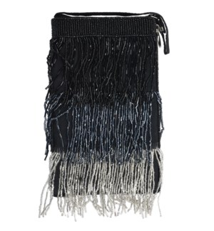 CLUB BAG BLACK SILVER FRINGE