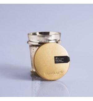 Blue Jean Mercury Found Glass Candle