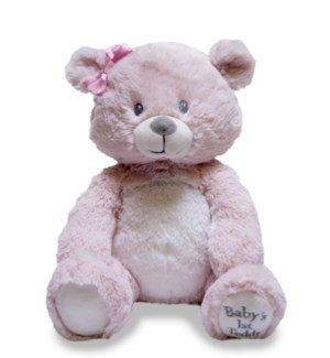 Baby's First Lullaby Teddie - Pink