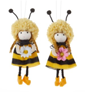 Bee Hat Girl Hanger, 2 Asst